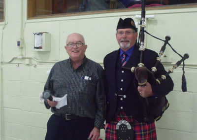 Bob Biehler- Event Chair/Host and Piper John MacLeod