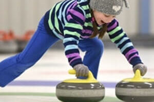 girl curling