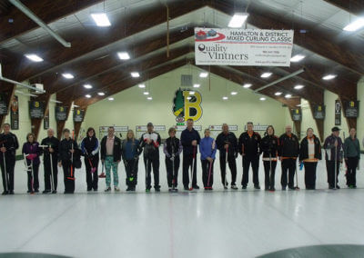 Teams piped onto the ice before the finals