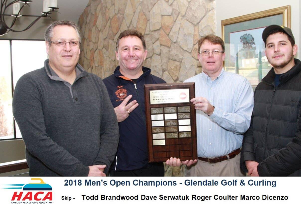 Mens open curling winners