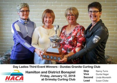 Day Ladies Curling Third Event Winner