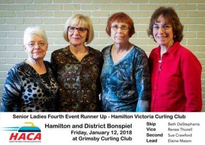 Senior Ladies 4th Event Runner Up