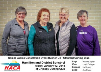 Senior Ladies Consolation Runner Up