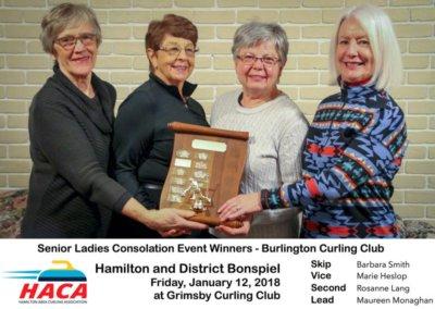 Senior Ladies Consolation Winner