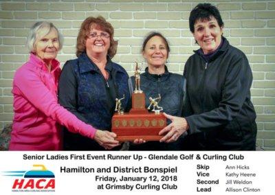 Senior Ladies First Event RunnerUp