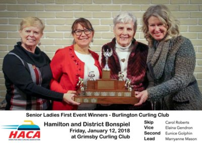 Senior Ladies First Winner