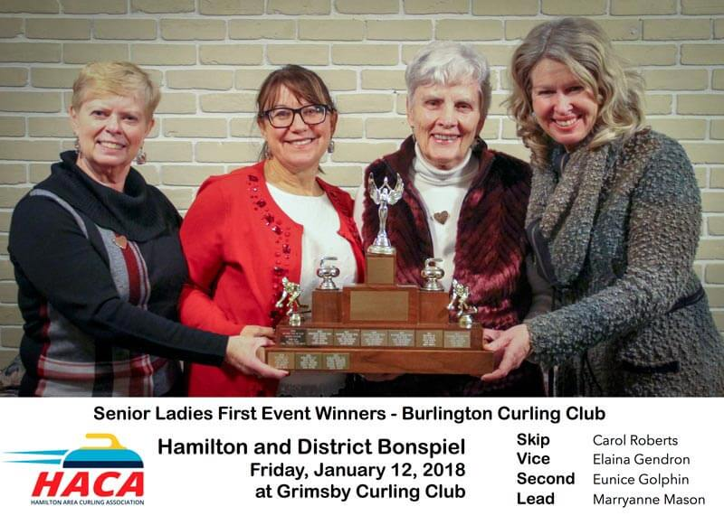 Senior Ladies First Curling Winner