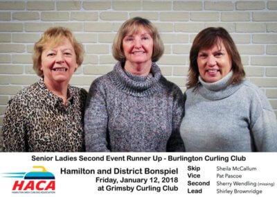 Senior Ladies Second Event Runner Up