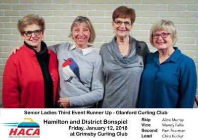 Senior Ladies Third Event Runner up
