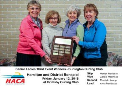 Senior Ladies Third Event Winner