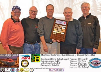 Grand Masters_2019-2nd Event Winner Team Turner, Glanford Curling Club