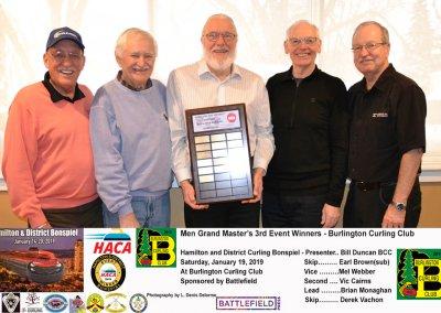 Grand Masters_2019-3rd Event Winner Team Vachon-Brown, Burlington Curling Club