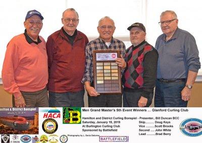 Grand Masters_2019-5th Event Winner Team Keys, Glanford Curling Club