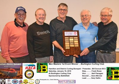 Masters_2019-1st Event Winners Team Rowe, Burlington Curling Club