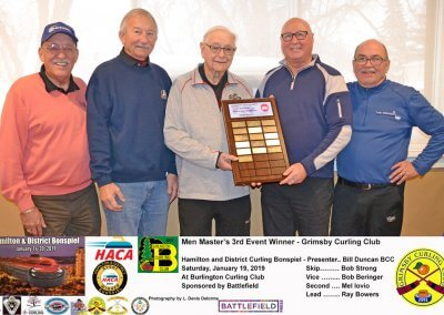 Masters_2019-3rd Event Winner, Team Strong, Grimsby Curling Club