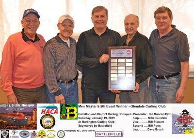 Masters_2019-5th Event Winner Team Guralski, Glendale Curling Club