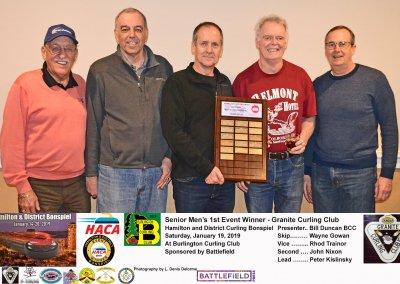 Seniors_2019-1st Event Winner -Team Gowan, Dundas Granite Curling Club_resize