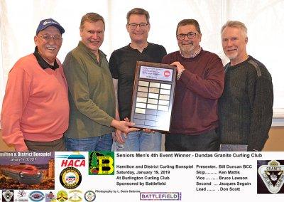 Seniors_2019-4th-Event-Winner-Team Mattis, Dundas Granite Curling Club